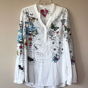 Desigual graphic blouse